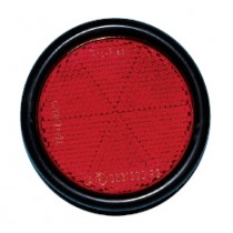 RFLCTR-(SCR-M5X16)-ROUND-RED-D55