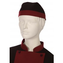 GORRO COOK PIRATA GRANATE/NEGRO