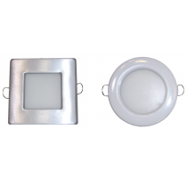 LEDS DOWNLIGHT 7W REDONDO Y CUADRADO